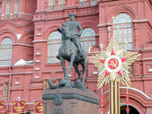 Moscow Monument to Marshal Zhukov 2011 — Stock Photo