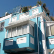 Tel Aviv Neve Tsedek Blue House 2008 - Stock Photo