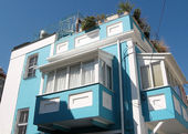Tel Aviv Neve Tsedek Blue House 2008 — Stock Photo