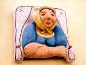 Tel Aviv Neve Tsedek Ceramic Portrait Sculpture 2011 — Stock Photo