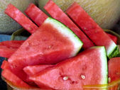 Tel Aviv watermelon slices 2012 — Stock Photo