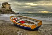 Loď v beach: erchie, pobřeží amalfi — Stock fotografie