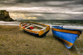 Erchie, boats in beach — Stock Photo