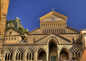 Amalfi cathedral facade — Stock Photo