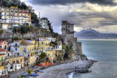 Cetara italian fishing village Tower — Stock Photo