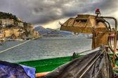 Fishing-lamp (Lampara) in Cetara,Amalfi coast HDR — Stock Photo