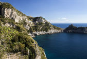 Conca dei Marini (SA), Amalfi coast : landscape from entry cave — Stock Photo