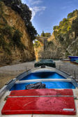Furore boat in beach 4 HDR — Stock Photo