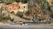 Furore,italian fishing village of Amalfi coast HDR — Stock Photo