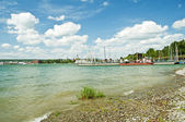 Bodensee Germany view to Konstanz — Stock Photo