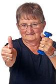 Pensionato con formazione muscolare — Foto Stock