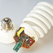 Energy saving lamp construction - Stock Photo