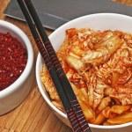Kimchi with kimchi spice — Stock Photo