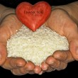 Stock Photo: Rice with heart