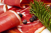 Smoked ham of the Black Forest — Stock Photo