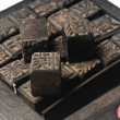 Antique chinese print letters — Stockfoto