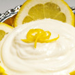 Curd with lemon — Stock Photo