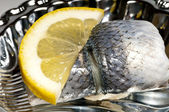 Pickled herring — Stock Photo