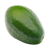 The fruit of avocado on a white background — Stock Photo