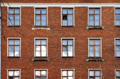 The facade of the old brick building in Moscow — Stock Photo