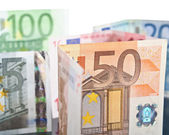 Different euro banknotes — Stock Photo