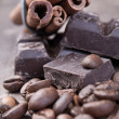 Stock Photo: Chocolate and coffee