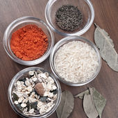 Different spices in glass — Stock Photo