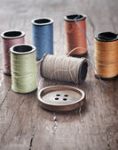 Many bobbin of thread — Stock Photo