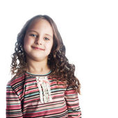 Beautiful little girl with long hair — Stock Photo