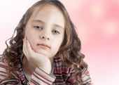 Little girl with long hair — Stock Photo