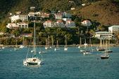 Yacht club in St.Thomas, US Virgin Islands — Stock Photo
