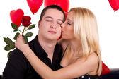 爱接吻的女人 — 图库照片