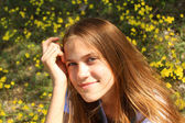 Chica en la naturaleza — Foto de Stock