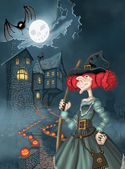 Illustration for Halloween — Stok fotoğraf