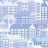 Houses - seamless pattern — Stock Vector