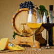 Wine and cheese — Stock Photo #9266223
