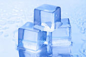 Freshness blue ice cube closeup — Stock Photo
