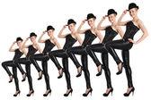 Show dancer — Stock Photo