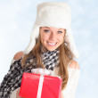 Royalty-Free Stock Photo: Girl with gift