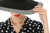Young woman in hat — Stock Photo
