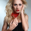Blond fashion model - Stock Photo