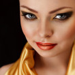 Golden make-up — Stock Photo
