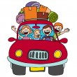 Family Trip — Stock Vector