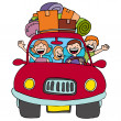 Stock Vector: Family Trip