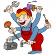 Vector de stock : Handyman