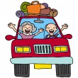 Road Trip Seniors — Stock Vector