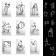 Education Student Drawing Set — Stock Vector