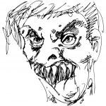 Monster Gesicht — Stockvektor