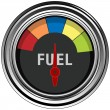 Stock Vector: Fuel Gauge