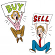 Buy Sell Investors — Stock Vector